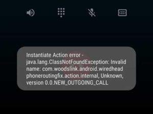 Instantiate Action Error
