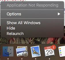 Application Not Responding