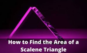 How to Find the Area of Isosceles and Scalene Triangle?